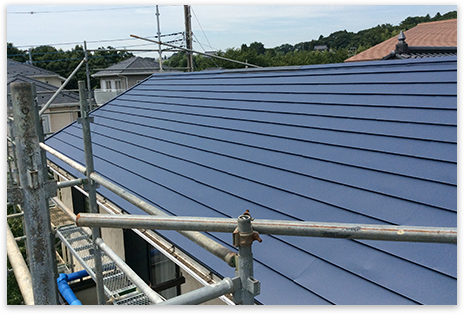 屋根の修復・塗装のリフォーム
